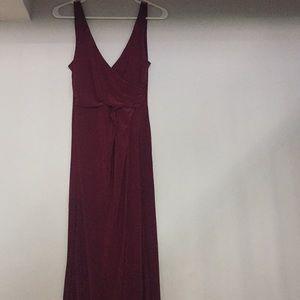 Maroon floor length gown